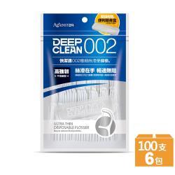 【快潔適】002極細絲滑牙線棒100支 x6包