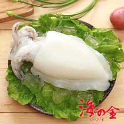 【海之金】鮮Q甜肥厚二去大花枝8隻(450g/隻)