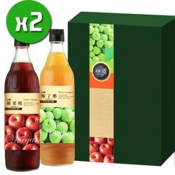 【台糖】水果醋禮盒x2盒(梅子+蘋果)_600ml/瓶