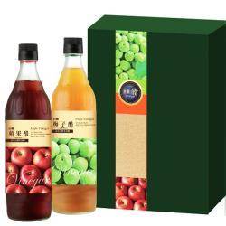 【台糖】水果醋禮盒(梅子+蘋果)_600ml/瓶