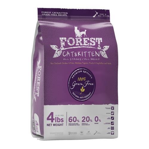森鮮天然無穀低敏-全貓配方4磅/1.81kg/