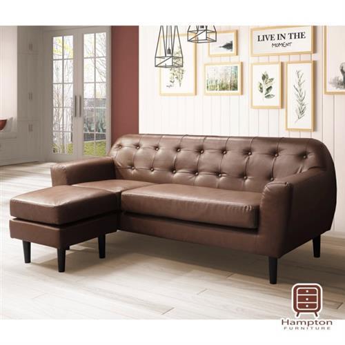【Hampton 漢汀堡】勞瑞L型皮沙發(一般地區免運費/雙人沙發/L型沙發)
