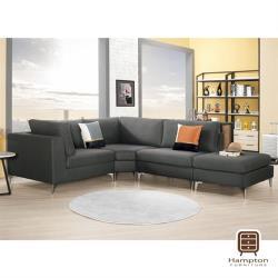 【Hampton 漢汀堡】昆恩L型貓抓皮沙發全組(一般地區免運費/l型沙發/三人沙發)
