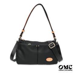 【OMC】城市小旅行側背斜背兩用隨身包(黑色)