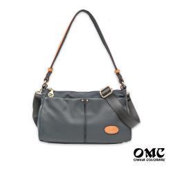 【OMC】城市小旅行側背斜背兩用隨身包(灰色)