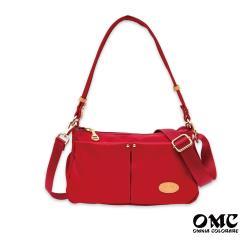 【OMC】城市小旅行側背斜背兩用隨身包(紅色)