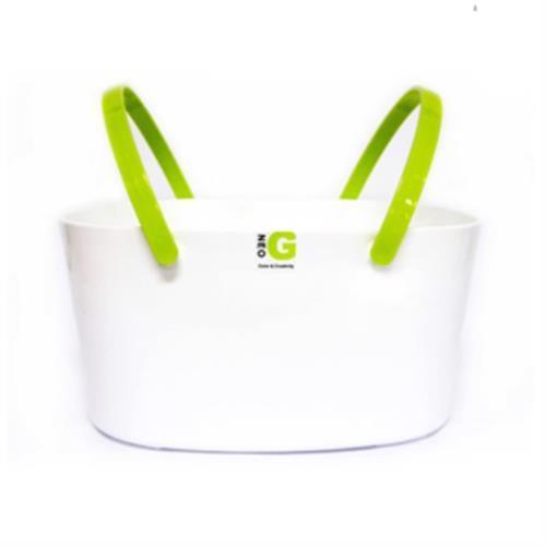 NEO 手提置物籃 大 綠色(浴室收納、放置瓶罐、排除水份)
