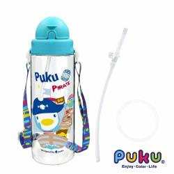 PUKU藍色企鵝 Tritan滑蓋水壺500ml超值替換組(小猴綠)