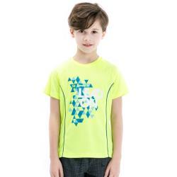 【聖伯納 St.Bonalt】印花涼感速乾圓領T恤 - 童款 8071 (天藍/果綠)