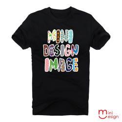 Minidesign-MINIDESIGN彩色字母潮流設計短T 五色