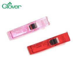 日本可樂牌Clover大開口強力夾布夾布長夾雙色8入組22-737縫紉夾子(有刻度,總長約5.5cm)拼布夾衣夾織物夾