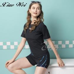 沙兒斯品牌 時尚流行二件式短袖泳裝 NO.B9220178-3L