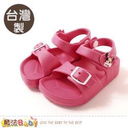 魔法Baby 女童鞋 台灣製迪士尼米妮授權正版極輕量涼鞋~sd3075