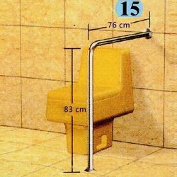 IA015 安全扶手-15 小便斗扶手 面盆扶手 白鐵 304不鏽鋼扶手1.5  C型扶手 L型扶手 無障礙空間 欄杆衛浴組