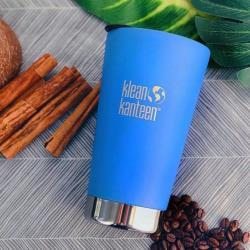 美國Klean Kanteen 不鏽鋼飲料保溫杯473ml (附蓋)-海空藍