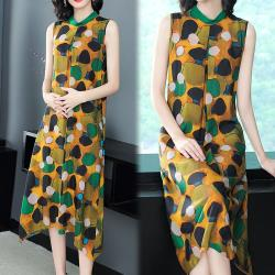 【韓國K.W. 】韓時尚馬卡龍點點印花洋裝