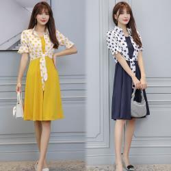 【韓國K.W. 】狂賣千件點點假期套裝裙