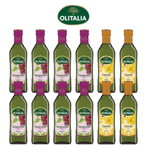 奧利塔葡萄籽油500毫升*8罐+奧利塔頂級芥花油500毫升*4罐