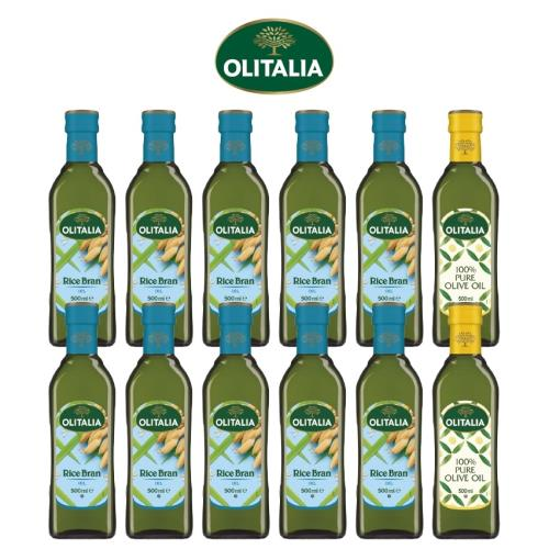 奧利塔玄米油500毫升*10罐、奧利塔純橄欖油500毫升*2罐/