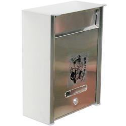 AG015不鏽鋼信箱 304白鐵信箱 信箱 白鐵鍛造 信件箱 意見箱 信件 郵件 附二支鑰匙 外投外取 26*12*35