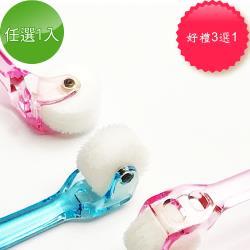 【日本RUNDA】成人/兒童滾輪牙刷(免牙膏)(可折/直立式)任選1入(加贈牙刷清潔粉等3選1)
