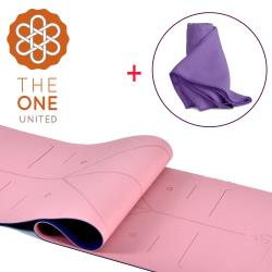 The One 環保TPE正位線雙色瑜珈墊 6mm + 防滑隱形矽膠瑜珈舖巾(四色任選)
