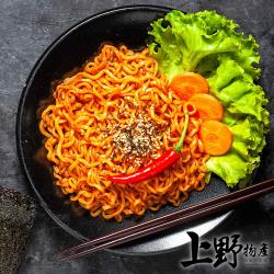 【上野物產】韓式辣醬豬肉炒麵(300g±10%/麵體+醬料/包)x16包