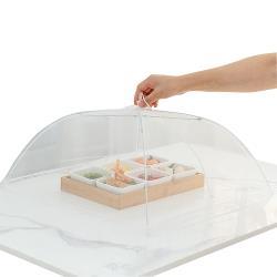 日本ECHO輕巧型蕾絲邊框桌罩(42Xx42x高22公分)