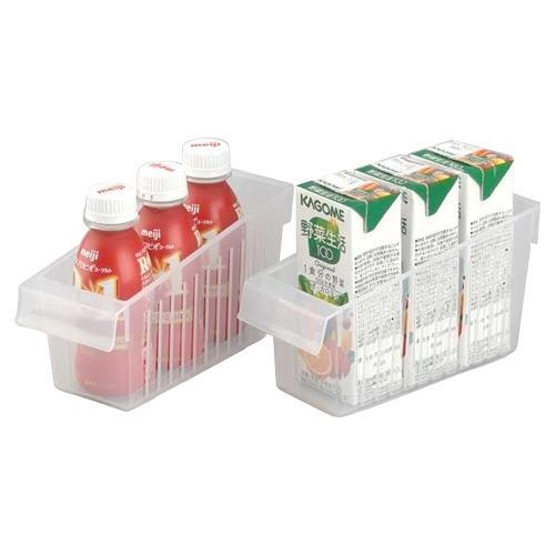 日本製造INOMATA冰箱冷藏-拉取式深型收納籃(小)4入裝