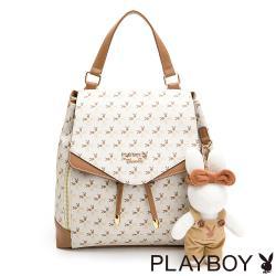 【PLAYBOY】後背包可斜背  四季兔的午茶時光系列
