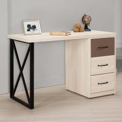 Boden-比恩4尺三抽書桌/工作桌(可調整方向)