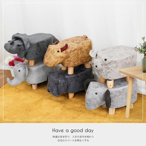 【多瓦娜】超萌療癒動物造型椅凳