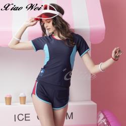 聖手品牌 時尚流行二件式短袖泳裝 NO.A9220188