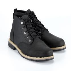 Timberland 男款黑色全粒面皮革休閒靴A2EHJ001