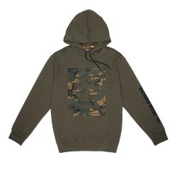 Timberland 男款軍綠色大樹LOGO迷彩印花連帽長袖T恤A2CN5A58