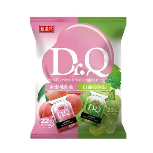 【盛香珍】DR.Q雙味蒟蒻(水蜜桃+白葡萄)420g(約21-22小包)/