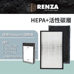 RENZA瑞薩濾網 適用Panasonic F-VXK70W F-VXJ70 F-VC70XK 可替換F-ZXKP70W F-ZXFD70W 濾芯耗材