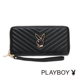 【PLAYBOY】ㄇ拉長夾附手挽帶  摩登小兔系列