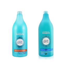 LOREAL萊雅 HAIR SPA 睡蓮淨化洗髮乳 茶樹清新洗髮精 1500ml 附壓頭