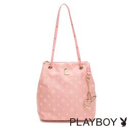 【PLAYBOY】肩背包  Floral花漾系列-粉