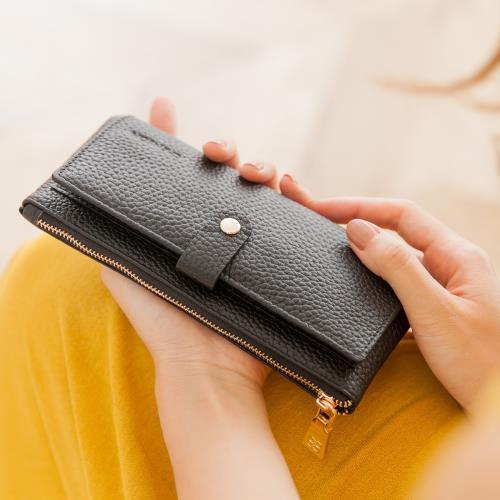 CHENSON真皮13卡超薄2.0典雅長夾皮夾手機包