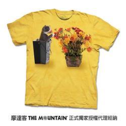 摩達客 自然純棉系列 花與小貓 T恤