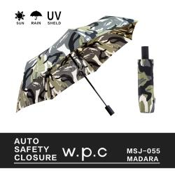 W.P.C自動款 日本ASC folding umbrella 抗強風摺疊傘 日本雨傘 MSJ-055(迷彩)