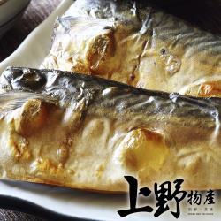 【上野物產】頂級宜蘭薄鹽鯖魚片(100g土10%/片) x20片