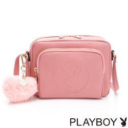 【PLAYBOY】斜背包 Morandi莫蘭迪系列-粉紅