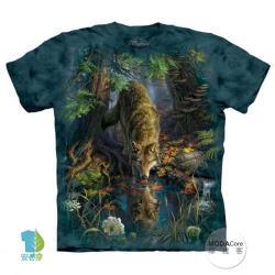 【摩達客】美國進口The Mountain 神秘森林狼 純棉環保短袖T恤