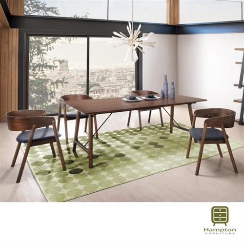【Hampton 漢妮】里昂6尺餐桌椅組-1桌4椅