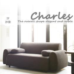 【Banners Home】Charles查理斯日系簡約風格雙人布沙發~ 沙發 /雙人沙發 / 休閒椅