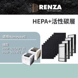RENZA瑞薩濾網 適用Honeywell HAP-801APTW HAP-802WTW可替換HRF-X2-AP HRF-E2-AP 空氣清淨機濾芯