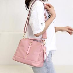 Acorn*橡果-新款輕便防水包斜背包側肩包手提包水桶包6519(粉色)